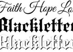 Script Lettering Style